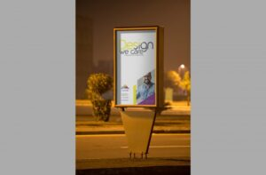 Outdoor Roadside Poster Free Mockup