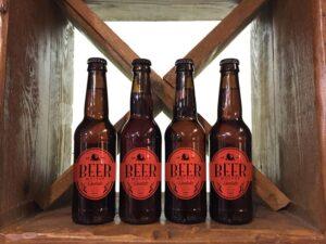 Beer Bottle Label Mockup Free PSD