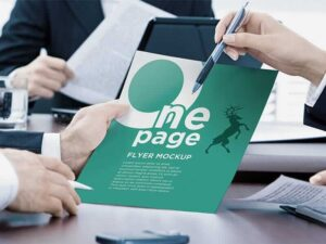 One Page – Free PSD Flyer Mockup