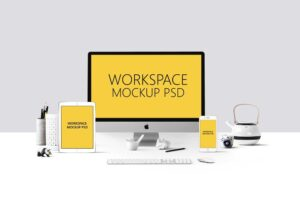 Download Free 'Workspace' Mockup PSD