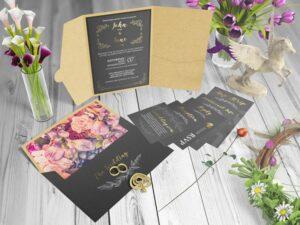 Pocket Invitation Paper Free Mockup