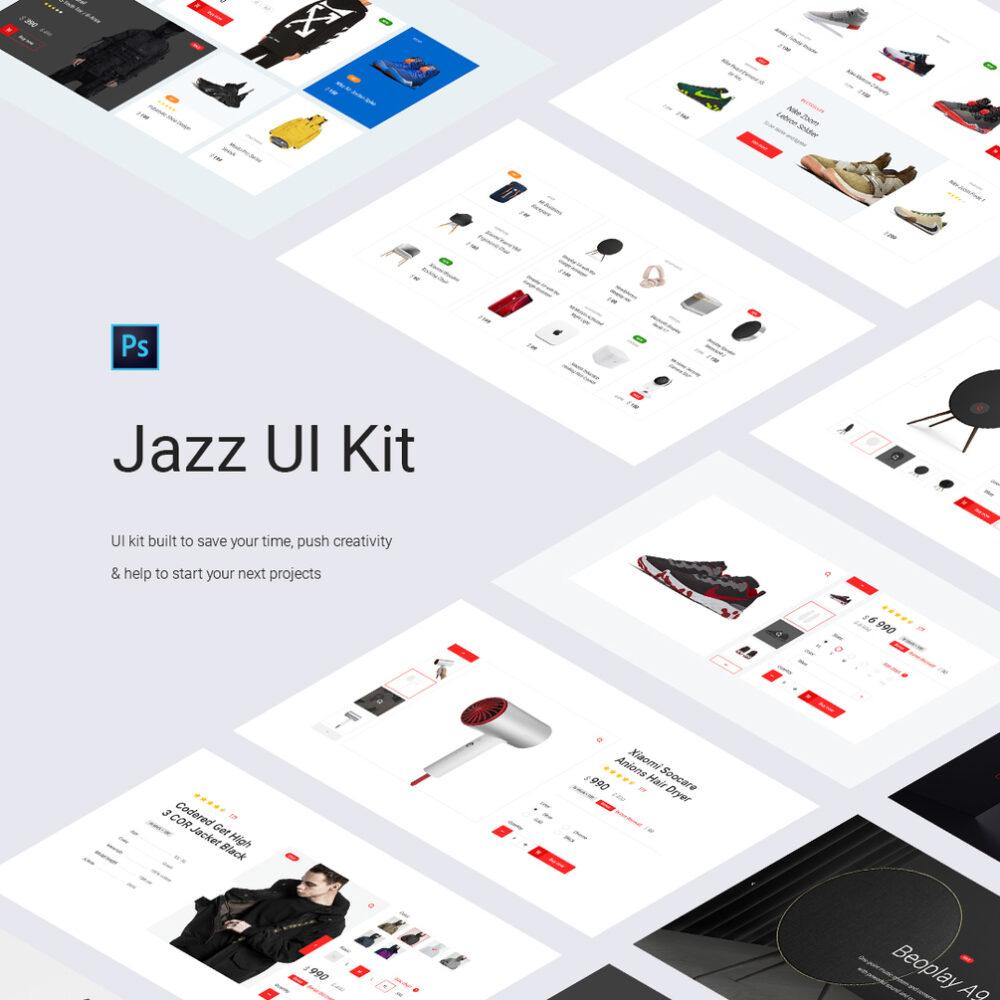 E-Commerce Shopping UI Kit Free PSD