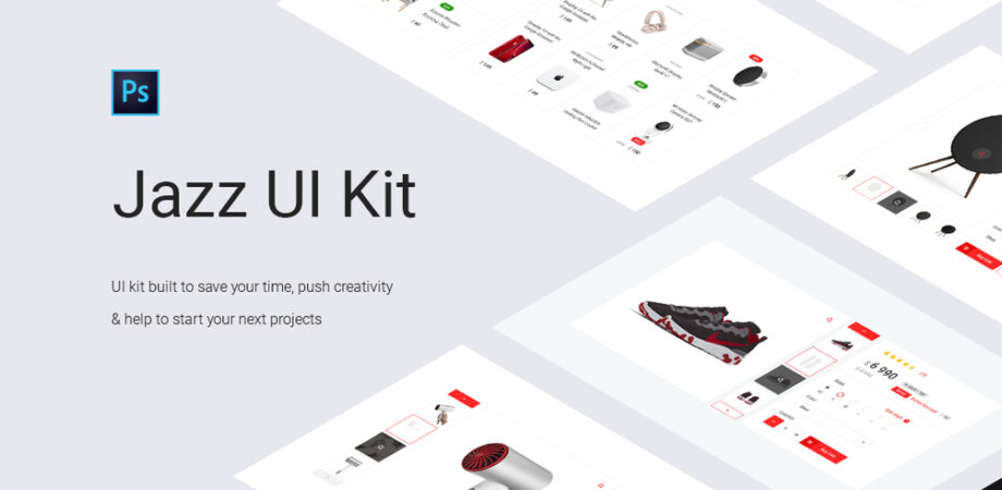 E-Commerce Shopping UI Kit Free PSD