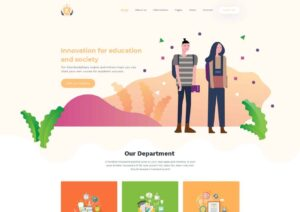 Education School & LMS – Free Website PSD Template