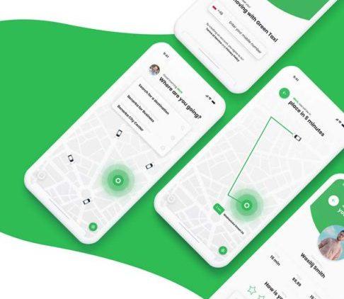 17 Screens Car Booking App Free UI