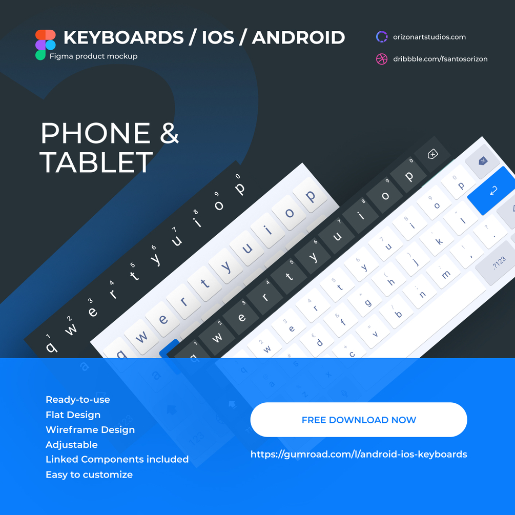 Android & iOS Keyboards Free for Figma
