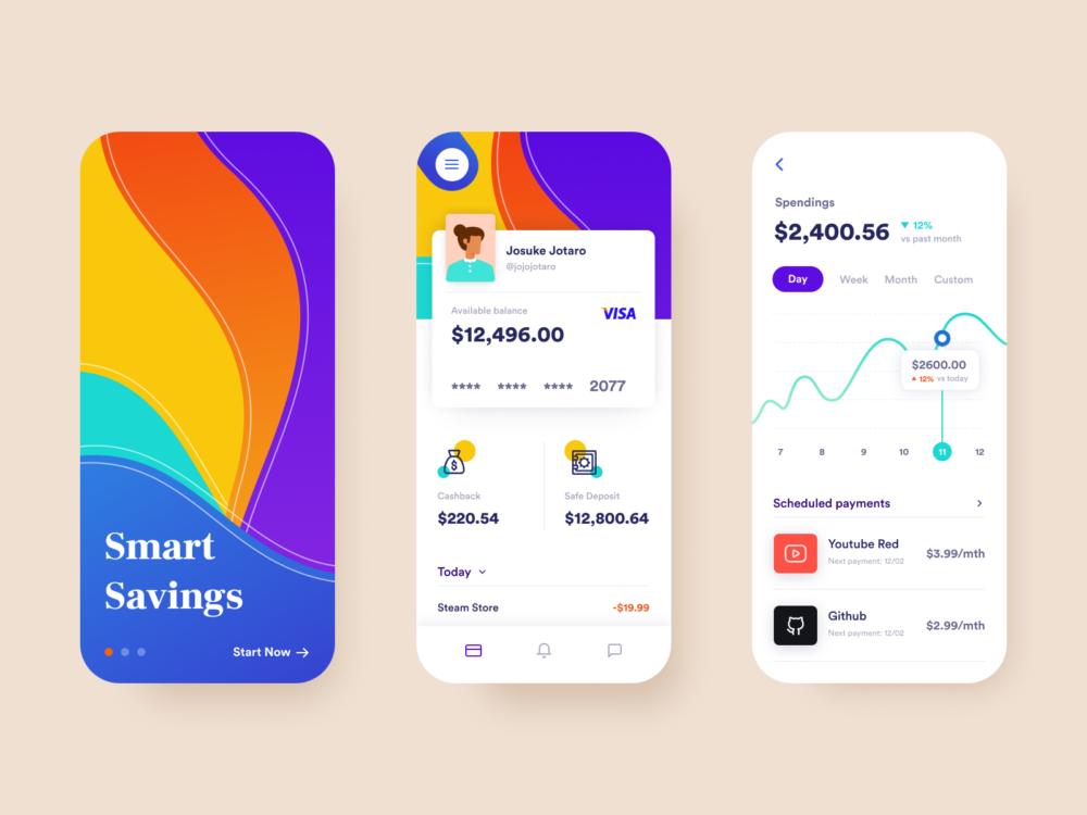 Bank App Concept UI Free