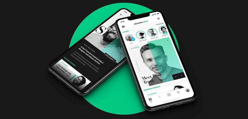 DesignerInspo Free XD Social Media App