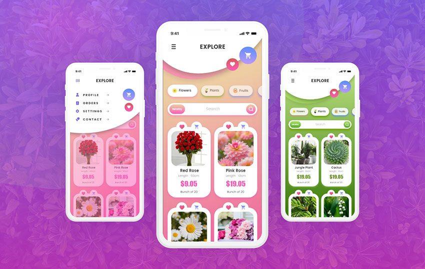 E-Commerce Shopping App Free Design