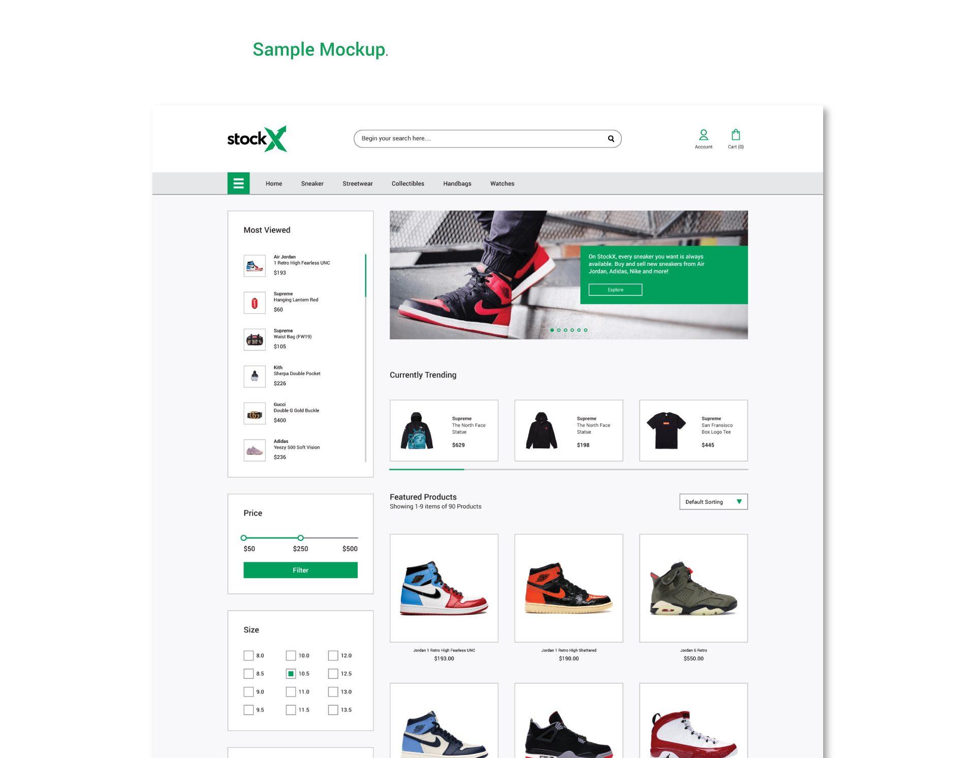 E-Commerce Web UI Kit Free PSD Template