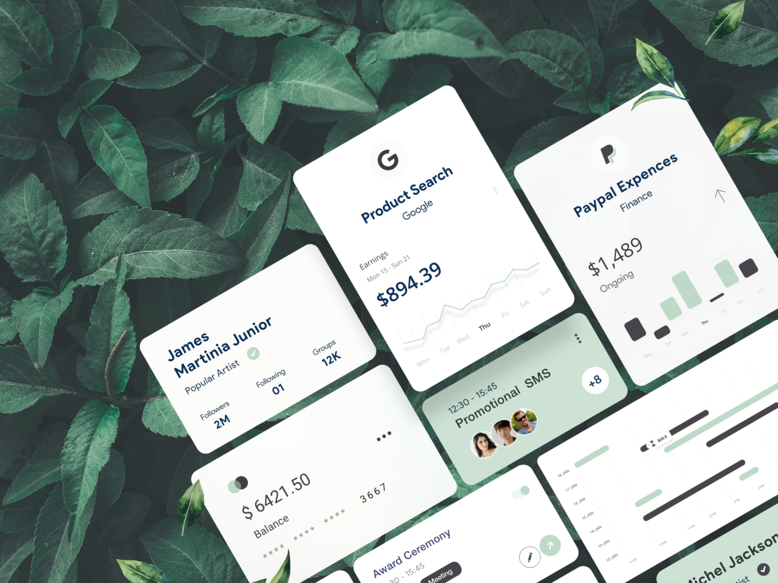Free Card UI Elements for Adobe XD