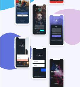 Free Login Screen UI Kit Part 1