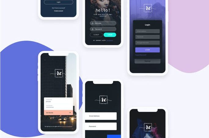 Free Login Screen UI Kit Part 1