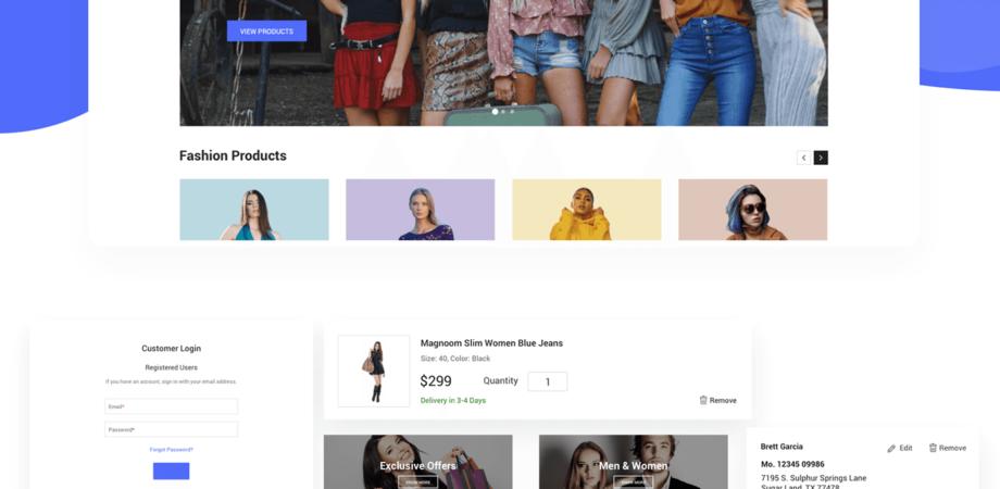 Freebie F-Mania E-commerce UI Kit Templates