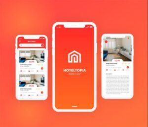 Hotel App UI –  Free Adobe XD