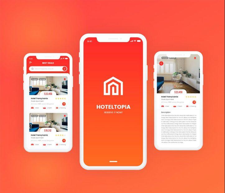Hotel App UI - Free Adobe XD