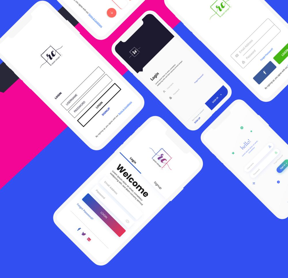 Login Screens Free UI Kit