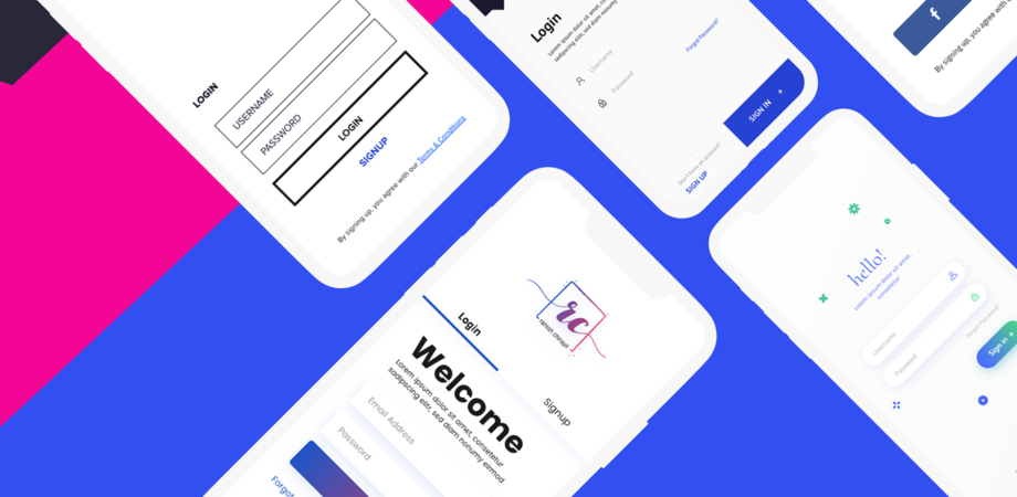 Login Screens Free UI Kit