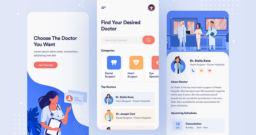 Medical Service APP Free Figma UI Kit