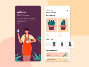 Plant Care App UI Free for Figma