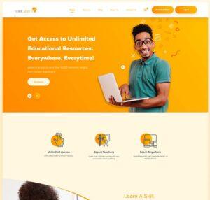 School Web Template – Free Figma UI Kit
