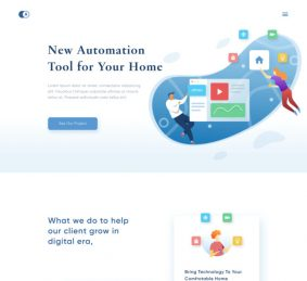 Smart Home Free Landing Page for Figma