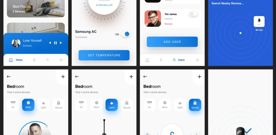 Smart Home Mobile App Free UI Kit