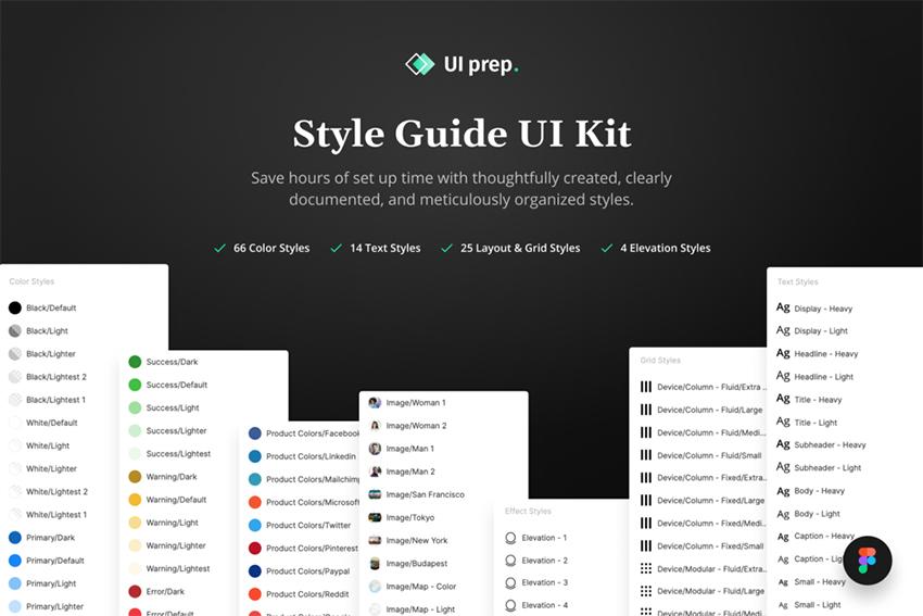 UI Prep Style Guide - Freebie Figma