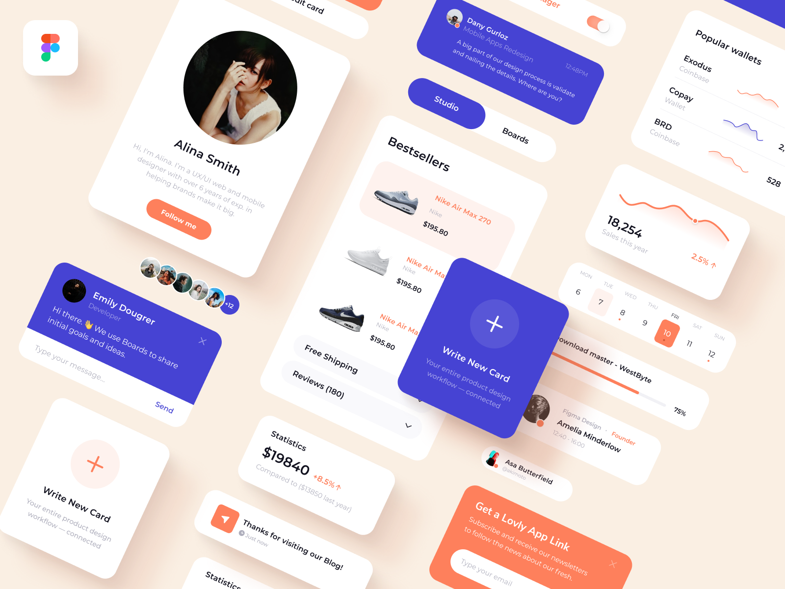App UI Elements Free for Figma