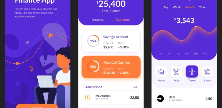 Finance Application for Sketch Free UI