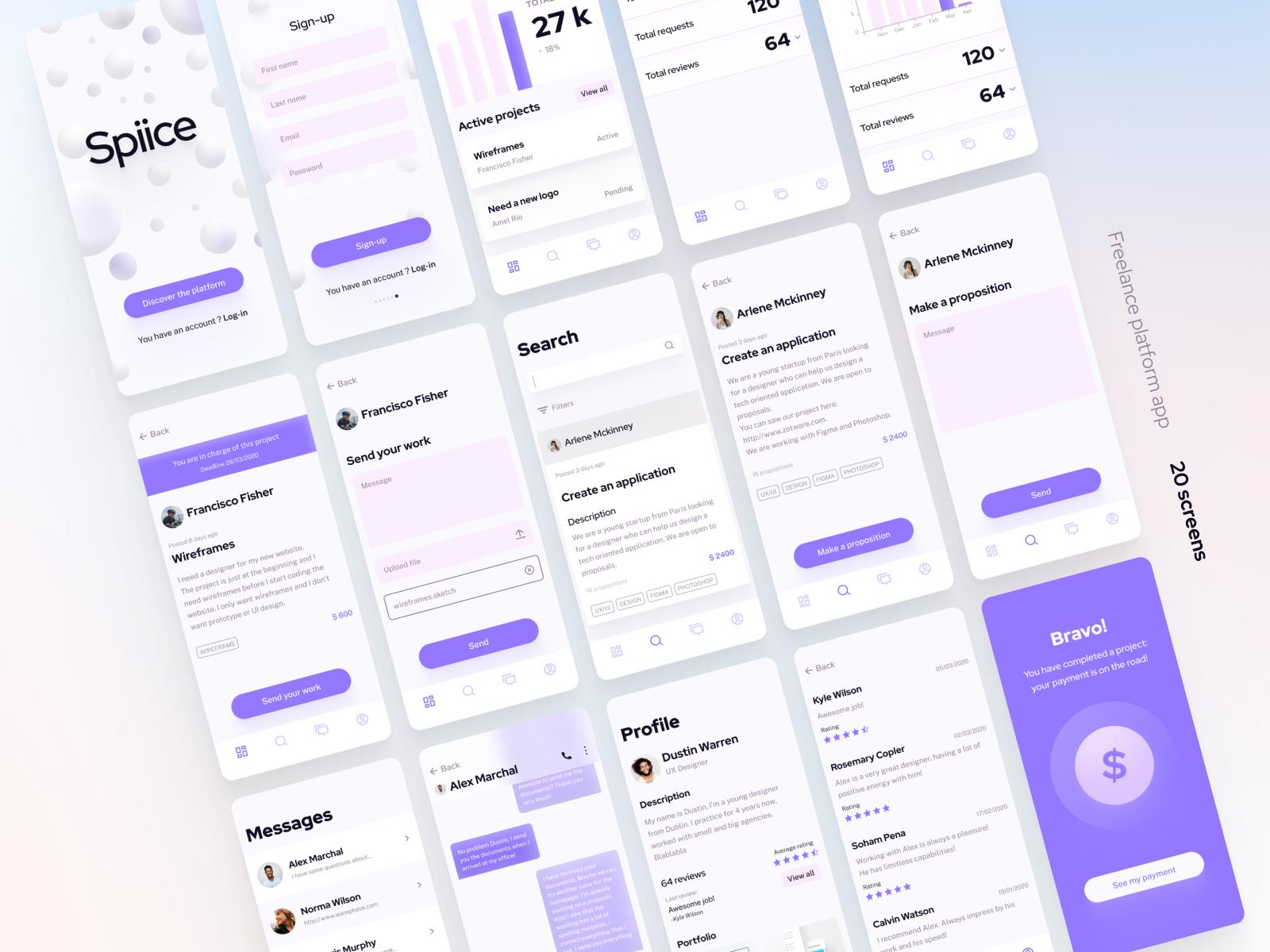 Freelance Platform UI Kit Free for Figma