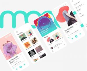 Moood Music App UI Kit Free for Adobe XD