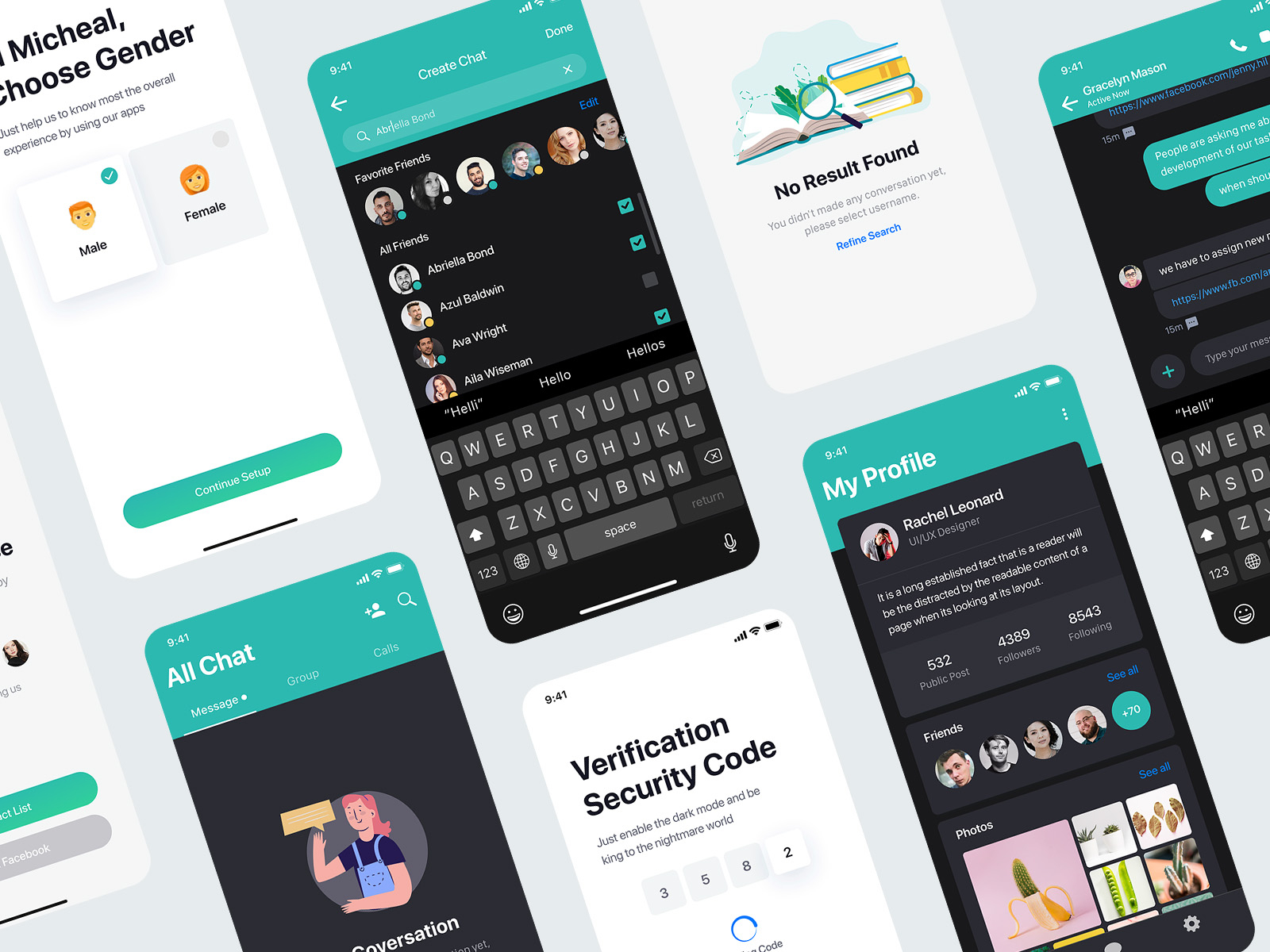 Sophie - Messaging XD UI Kit Free