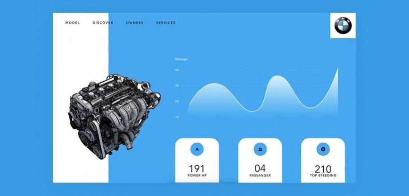 BMW Engine Free XD Animation Web Template