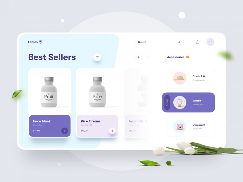Beauty Store Website Concept Free for Figma