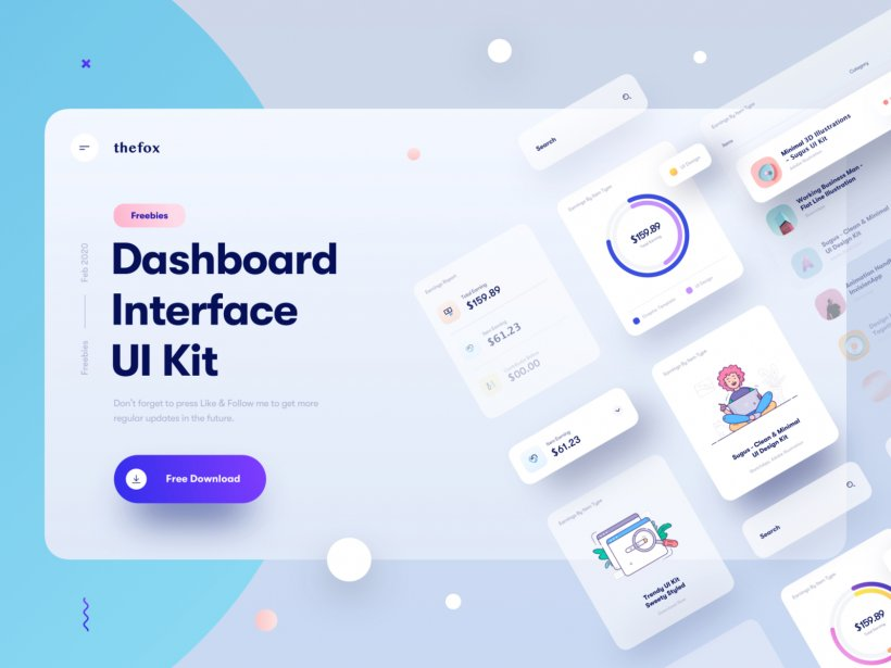 Dashboard Interface Elements Free for Sketch