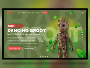 Groot Toys Free Web Xd Template