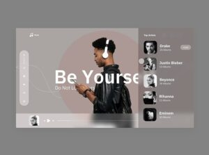 Music Animated XD Free Web Landing Page