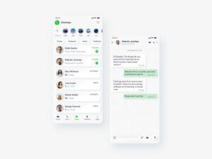Neomorphic WhatsApp Chat Free UI XD