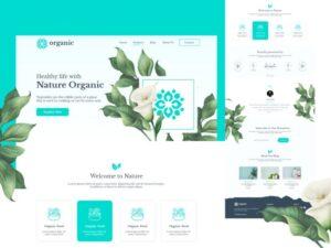 Organic Natural Health Free Adobe XD UI Kit