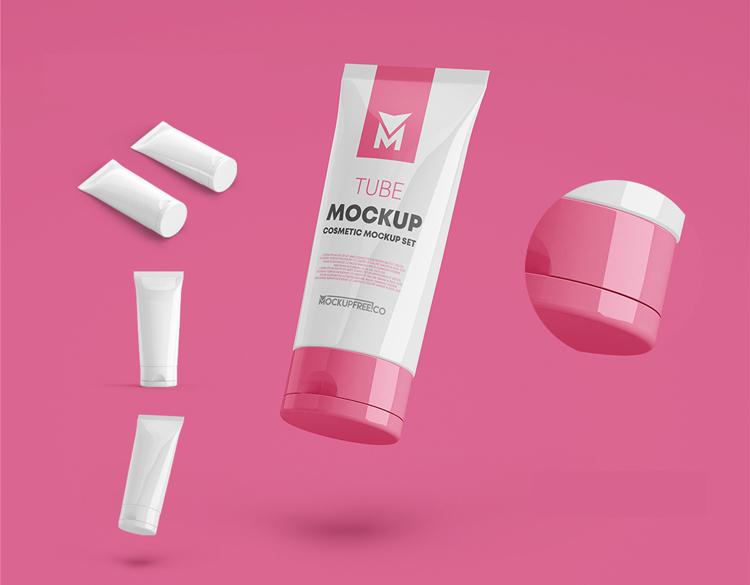 3 Free Cosmetic Tube Mockups (PSD)