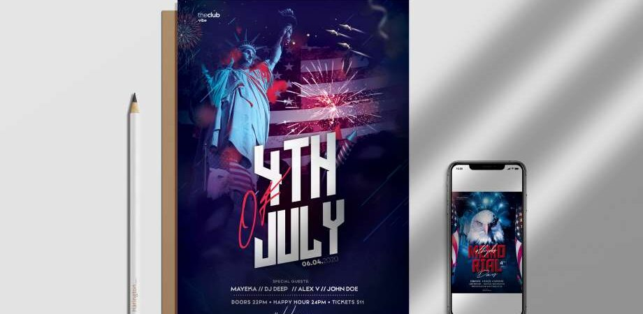 4th July 2020 Event Free Flyer Template (PSD)
