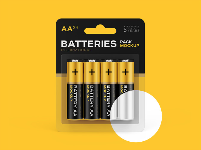 AA Battery Free Mockup