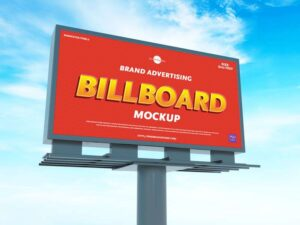 Advertising Billboard Free Mockup (PSD)