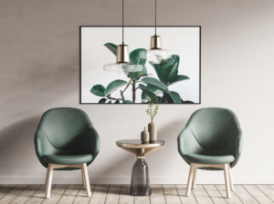 Armchairs and a Poster Frame Free Mockup