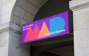 Banner Advertisment Free Mockup (PSD)