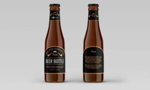 Beer Bottle Freebie Mockup (PSD)