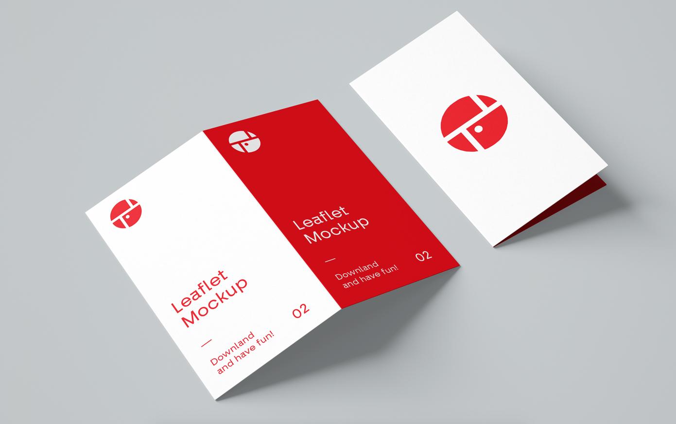 Bi-Fold Brochure Free PSD Mockup