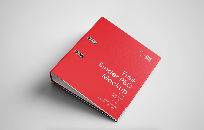 Binder Cover Free Mockup