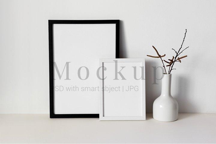 Black and White Photo Frame Free Mockups